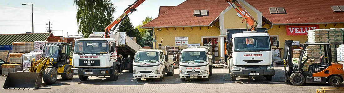 A Kapos Épker már 1995 – óta a környező települések és Kaposvár egyik legnépszerűbb építőanyag centruma.
