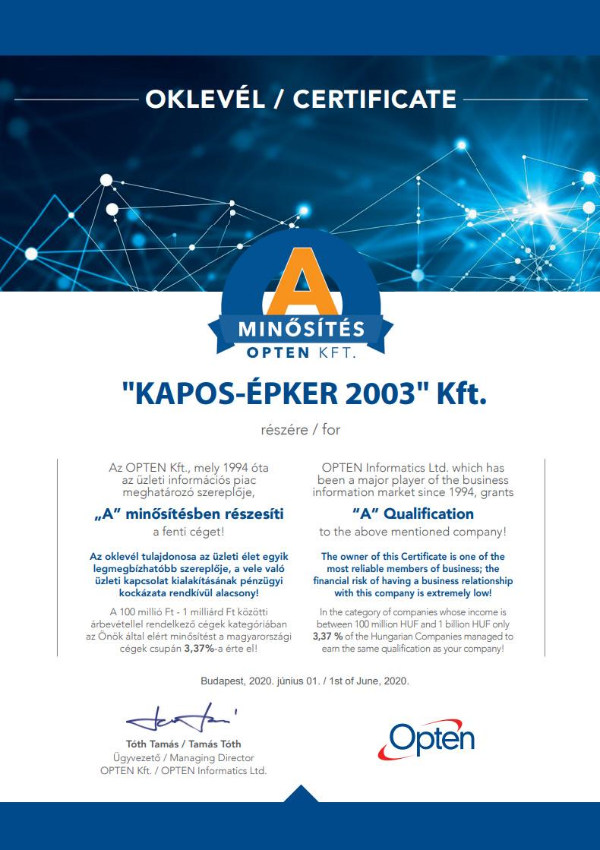 Kapos Épker - Opten